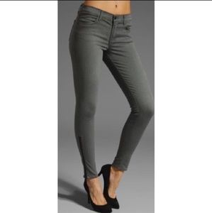 J Brand Power Stretch Zip Legging Gotham Gray sz26